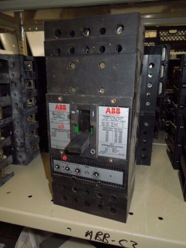 Abb Js 400a 3p 600vac S4 Electronic Trip Unit - E6 W/ Lsi Load Lugs Breaker Used