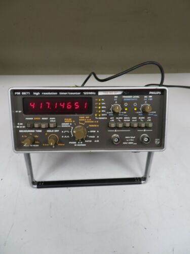 Philips - model PM-6671 - High Resolution Timer/Counter 120 MHZ - OF21