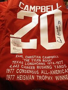 NFL MVP Earl Campbell Autographed Jersey