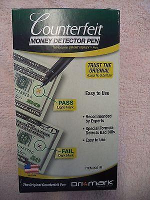 12 Dri Mark Counterfeit Money Detector Pens 351R currency dollar bill NIB FREE S
