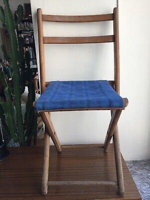 vintage siège pliant torck, camping, pêche, jardin, bureau enfant, décoration