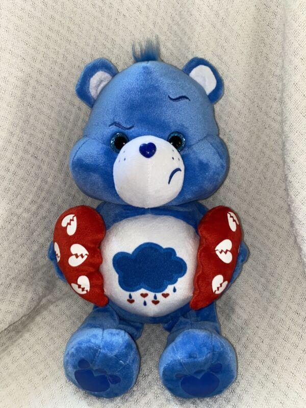 "Broken Heart Grumpy Care Bear 2018 13"" Blue Great Condition"