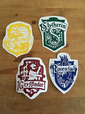 Harry Potter House Crests Vinyl Decal/Sticker gryffindor, hufflepuff,slytherin