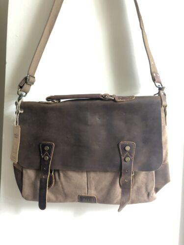 "Lifewit 14"" Messenger Bag Vintage Leather Canvas Laptop Shou"