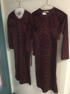 Two beautiful velour children's dresses