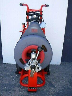 Ridgid Kollmann K-7500 Drain Cleaning Cleaner Drum Machine