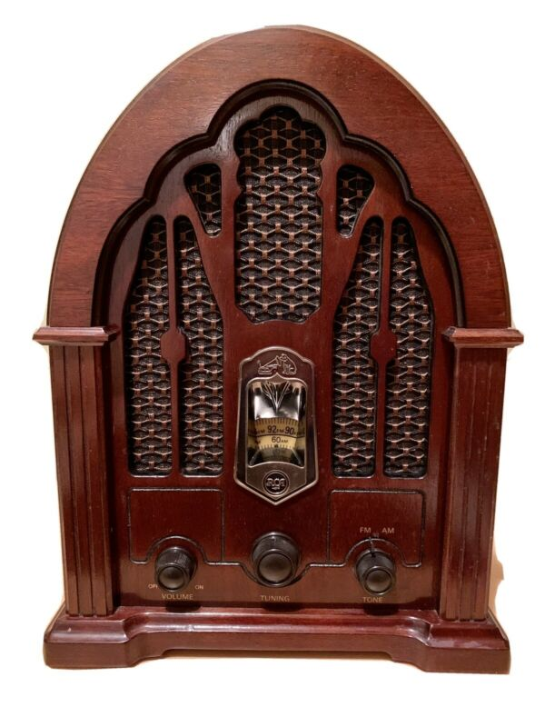 Vtg RCA Tombstone Cathedral Radio Model Antique Reproduction RP-3895 WORKS GREAT