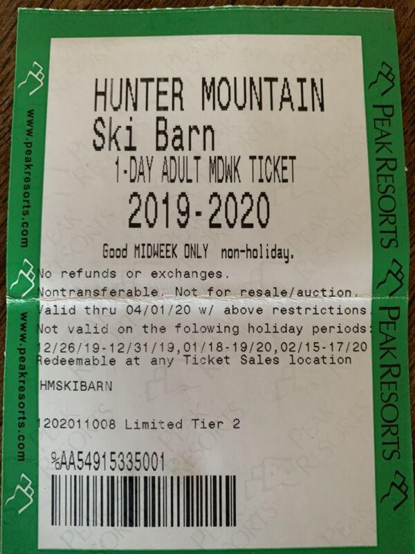 Hunter Mountain NY Lift Tickets 2020