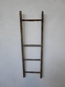 D8093 Small Rustic Timber Ladder Wall Decor Pot Hanger Mount Barker Mount Barker Area Preview