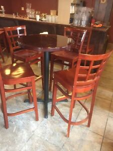 Tall chair and table