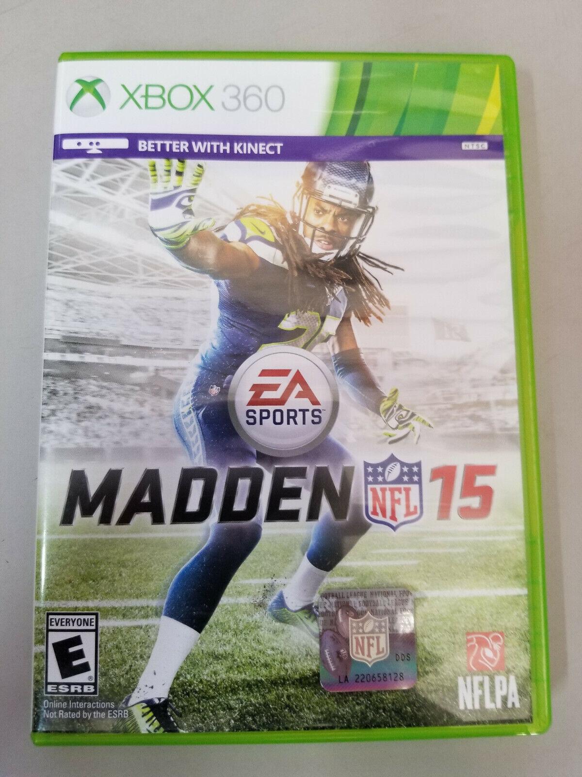 Madden NFL 15 Microsoft Xbox 360, 2014 Tested, No Manual - $8.00