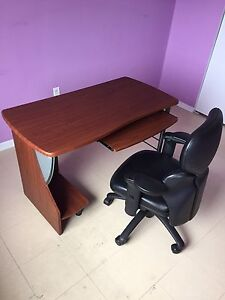 Leathers chair with office table $60