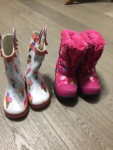Rain boots and winter boots