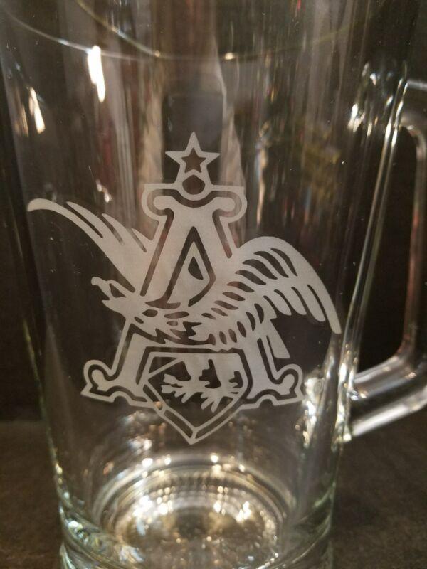 Anheuser Busch Etched Pitcher * Engraved Flying Eagle Logo * Budweiser
