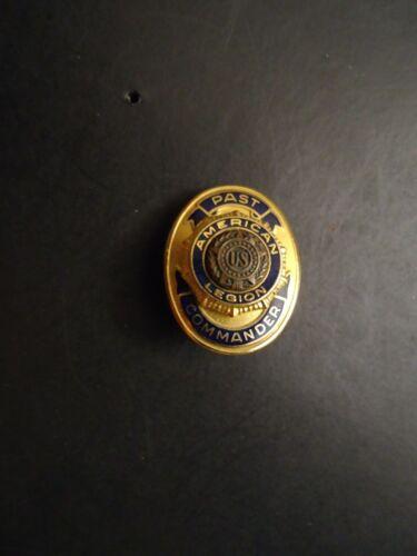 """Vintage American Legion """"Past Commander"""" Leavens 10KGF Lapel Pin"""