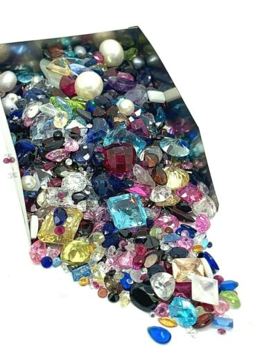 Lot of Gemstone Assorted Gems 500 Carats Pearls CZ Topaz Scrap Jewelry Making