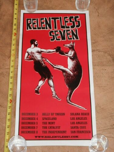 RARE 2008 BEN HARPER - RELENTLESS SEVEN, CONCERT POSTER, CALIFORNIA TOUR DATES