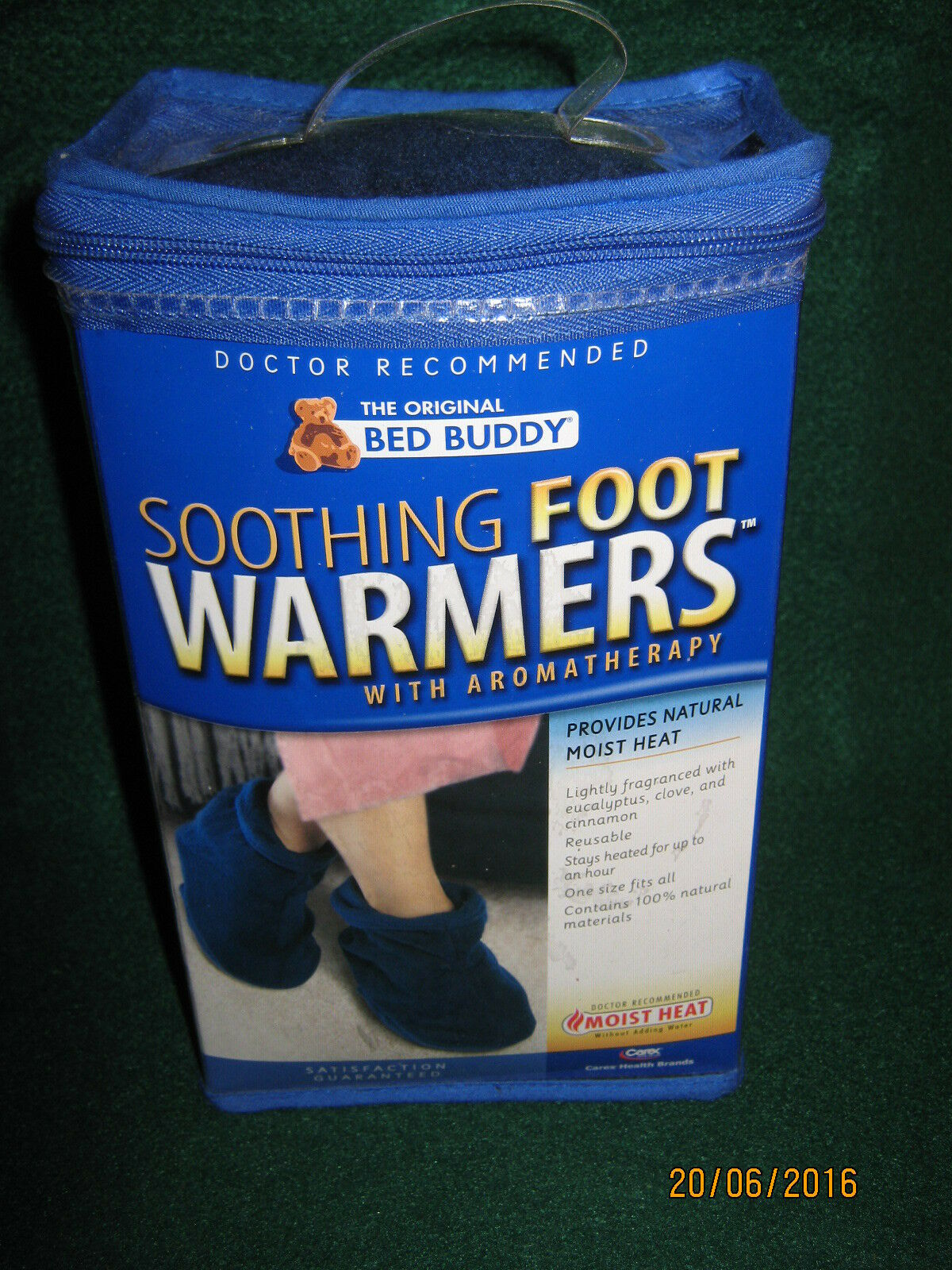 BED BUDDY SOOTHING FOOT WARMERS WITH AROMATHERAPY