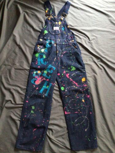 Round House Brand Youth Girls Custom Paint Splatter Fresh Overalls