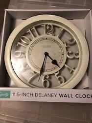 La Crosse Equity 20857 11.5 Delaney Floating Dial Quartz Antique White
