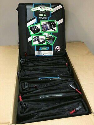 5-ct Case-it Z-binder Two-in-one 1.5 3 Ring Zipper Binder Black Z-176 The Z
