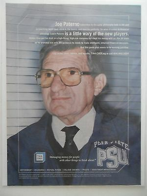 2003 Print Ad  Tiaa Cref Financial Service   Joe Paterno Psu Penn State Football