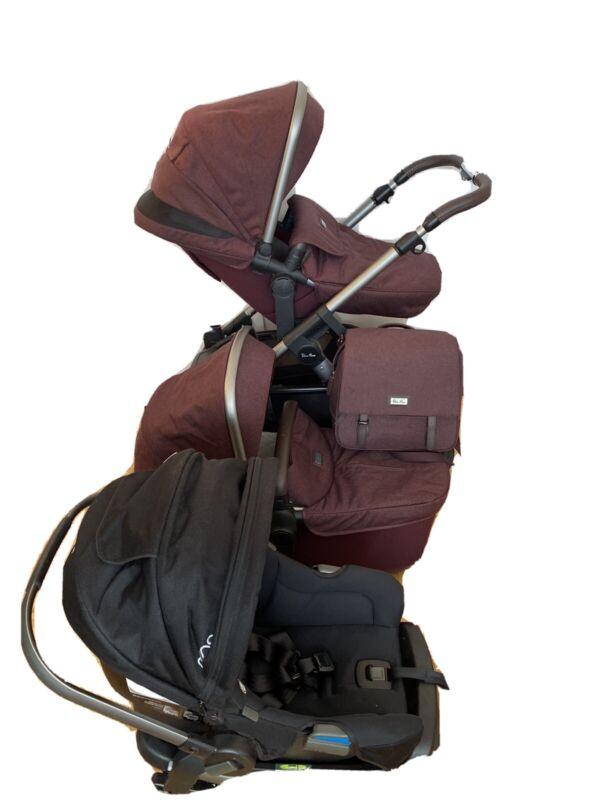 NEWBORN SET! Silver Cross Wave Stroller + Bassinet + Nuna Rava Car Seat + EXTRAS