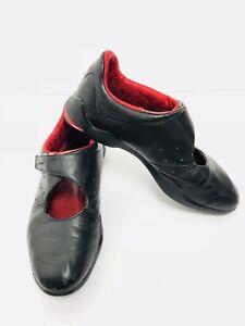 Adidas Prajna Adiprene Vintage Women's Leather Sport Red&Black Shoes US6.5EU37