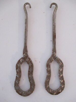 VINTAGE TWO COLLECTOR SHOE SPATS HOOK