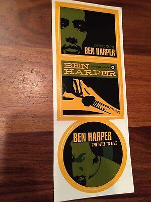 Ben Harper The Will To Live promo sticker