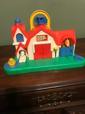 Fisher Price Barn Animal Sounds Farm Activity Center #1005 Vintage 1987