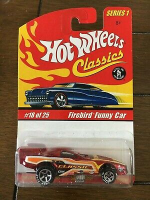 Hot Wheels Classic Series 1, Firebird Funny Car Red Lift up Body #18 of 25