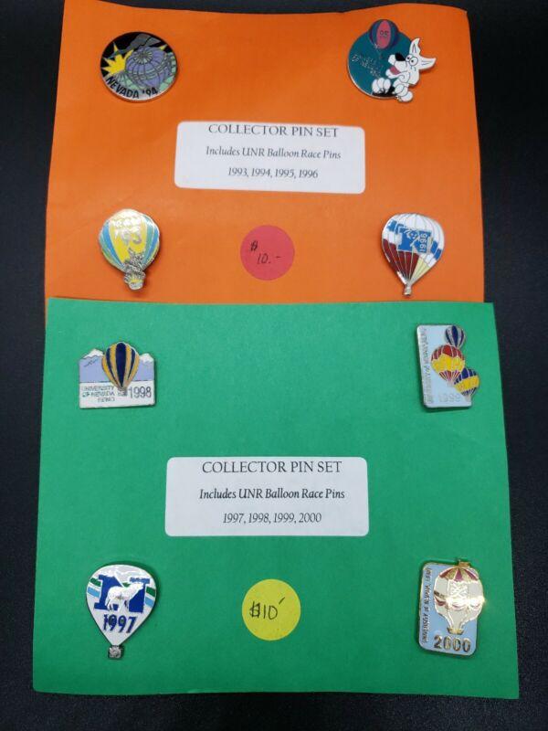 UNR RENO NEVADA Balloon Race Collector Pin Set of 8 1993 - 2000