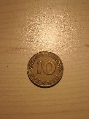10 Pfennig Münzen Bank Deutscher Länder 1949 F