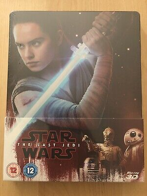 Star Wars The Last Jedi - Blu-ray 3D & 2D Steelbook Rare OOP New And Sealed