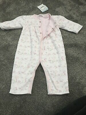 Lovely New kissy kissy baby girl Playsuit Baby Grow Romper 0-3 Months With Tags