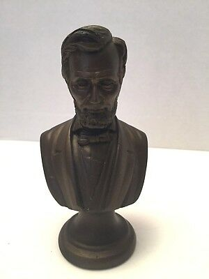 "Used, President Abraham Abe Lincoln Bronze Color Resin Bust Statue Sculpture 5 1/2"" for sale  Santa Rosa"