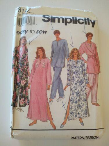 FF UC Simplicity 8142 SZ LG-XL Nightgown PJs Robe Caftan MuuMuu OOP Vintage  - $9.00