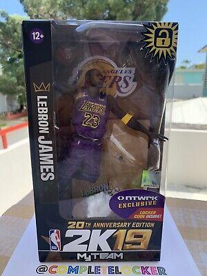 New McFarlane NBA 2K19 LA Lakers LeBron James Purple Jersey NTWRK Exclusive