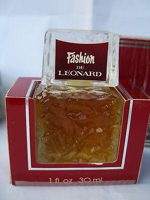 FASHION de LEONARD Paris  XXL PURE PARFUM 30 ml  ORIGINAL RARE VINTAGE (Paris Fashion Parfüm)