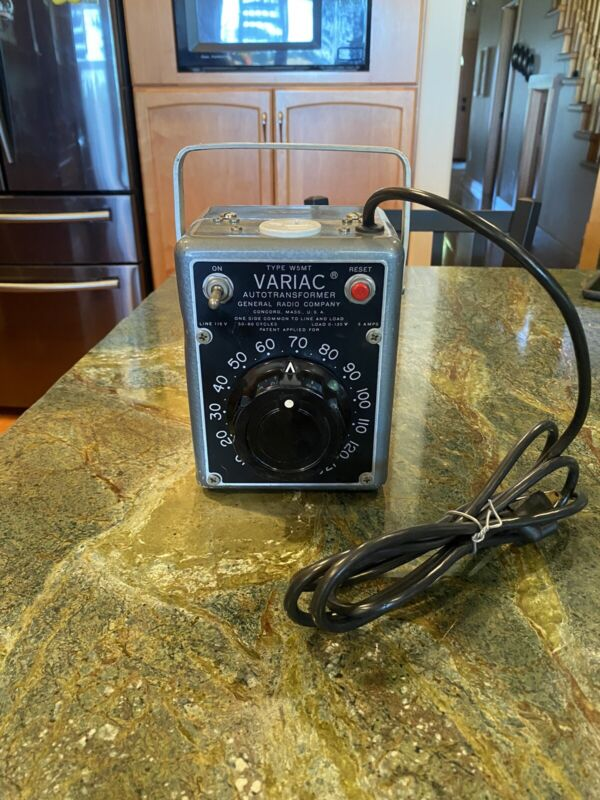 General Radio GenRad W5MT Variac  Autotransformer 115V 5 AMPS 0-135v   Excellent