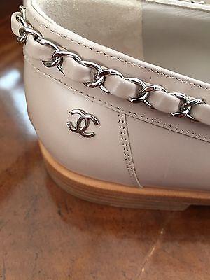 NIB Chanel Chain Loafer Shoes Beige Tan IT395