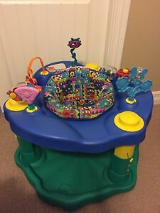 Exersaucer, jumperoo, jolly jumper