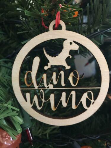 Ornament Dino Wino Laser Cut