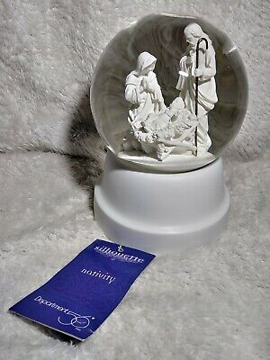 Dept 56 Nativity Snow Globe Musical Away in a Manger Christmas Silhouette Water