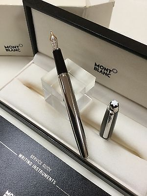Montblanc Meisterstuck Solitaire Steel And Carbon Fibre Fountain Pen NEW
