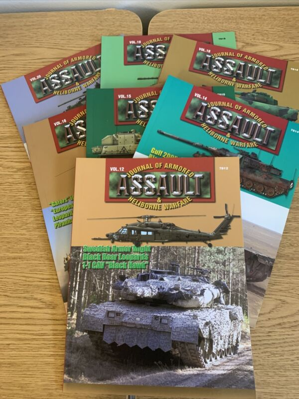 Concord Publishing Assault Journal of Armored & Heliborne Warfare 7 Vols.