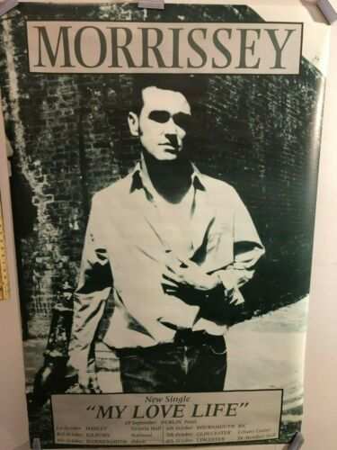 HUGE SUBWAY POSTER- Morrissey My Love Life the smiths New single promo 1995