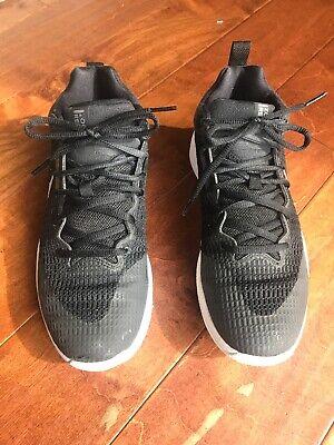Nike Zoom Rev TB Basketball Shoes Black White Silver Grey Gray 922048 Sz 7 / 8.5