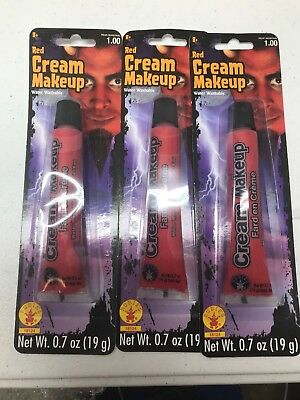 Rubies Red Cream 3 Pack Costume Makeup Face Paint Parties Halloween Devil